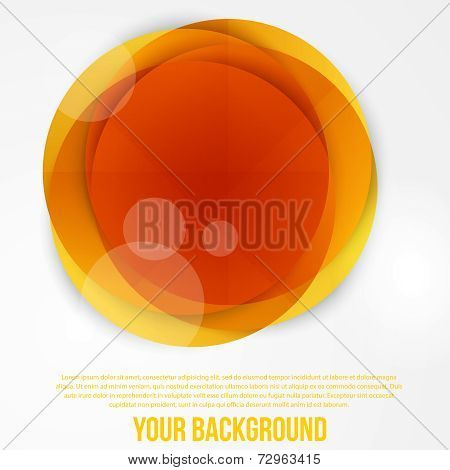 Vector abstract circles template. Object web