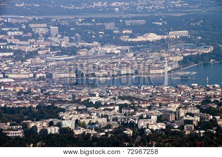 Geneva City In Switzerland