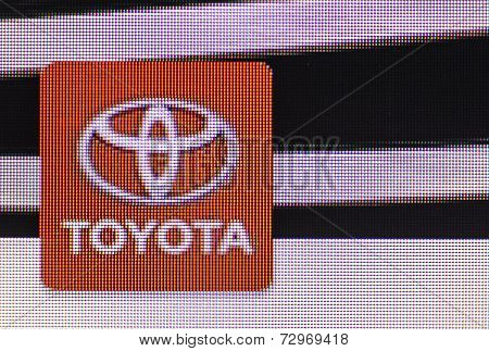 Toyota Icon On Computer Screen