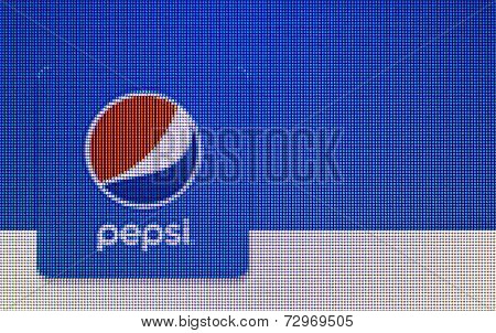 Close-up Open A Pepsi Logo On A Home Computer Screen
