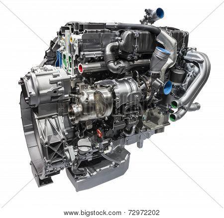 Modern Truck Diesel Engine