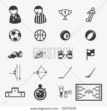 Sport icons set.illustration eps10