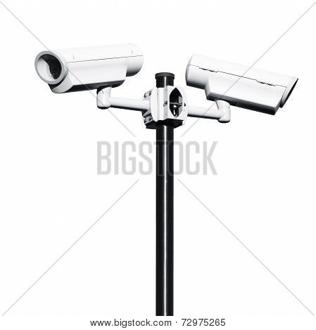 Closed-circuit Television Cameras Isolated On White