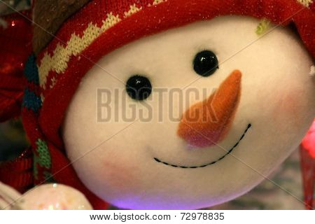 Snowman Face Bauble
