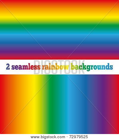Two Rainbow Backgrounds Seamless Texture