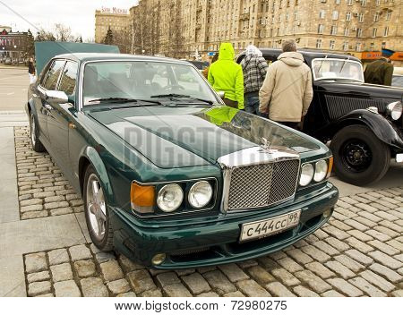 Bentley On Rally Of Classical Cars, Moscow