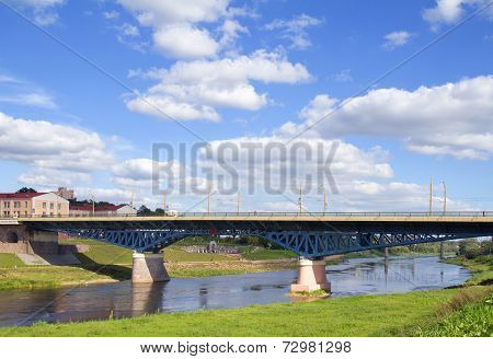 Bridge Over River, Grodno, Belarus