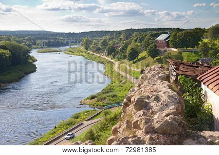 Old Fortress And River