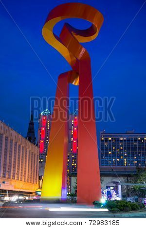 Torch Of Friendship at Night San Antonio Texas