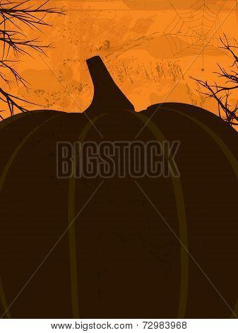 Halloween Grunge Poster Orange