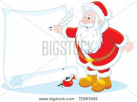 Santa Claus writing