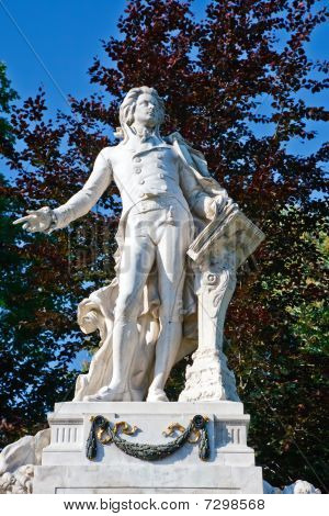 Statue of Wolfgang Amdeus Mozart in Burggarten