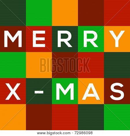 Mosaic Merry X-mas Card