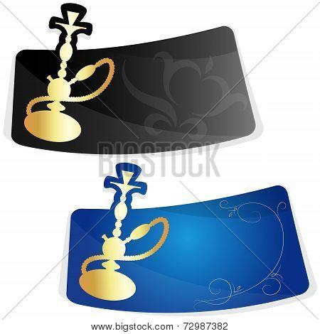 Advertising sticker for hookah