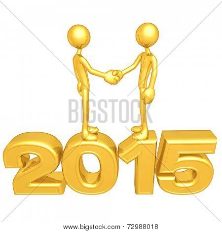 Gold Guy Business Handshake 2015