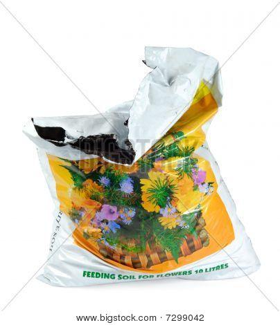 Pack Parcel Sack Of Soil Ground
