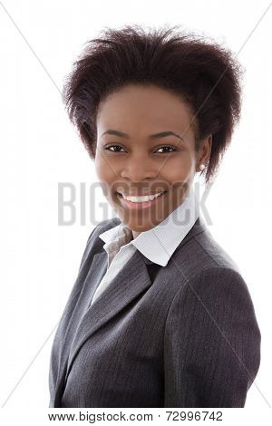 Portrait of African American woman.