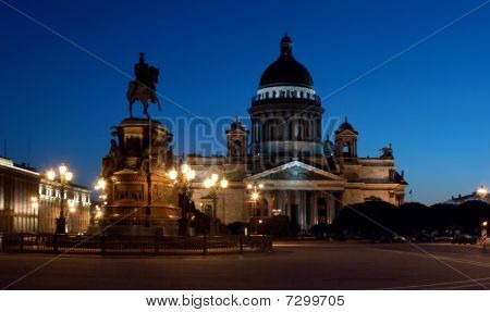 St Isaac's Cathedral  At Night
