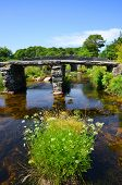 pic of devonshire  - The ancient clapper bridge in Dartmoor National Park - JPG