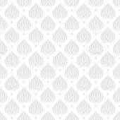stock photo of dots  - White geometric texture with drop like shapes in silver and gold dots on white for Christmas and holiday decor or wedding invitation background - JPG