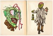 foto of dread head  - Monster head and Corpse  - JPG
