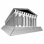 picture of parthenon  - Greece Parthenon sketch vector illustration art object - JPG