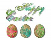 pic of happy easter  - Easter clip art isolated in white background - JPG
