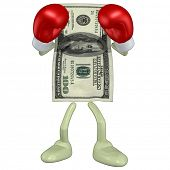 stock photo of pugilistic  - Money Boxing - JPG