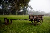 image of chariot  - Old Wooden chariot in countryside of Misiones Argentina - JPG