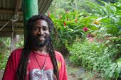 pic of reggae  - Portrait of African man with dreadlocks - JPG