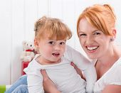 stock photo of strawberry blonde  - Happy family - JPG