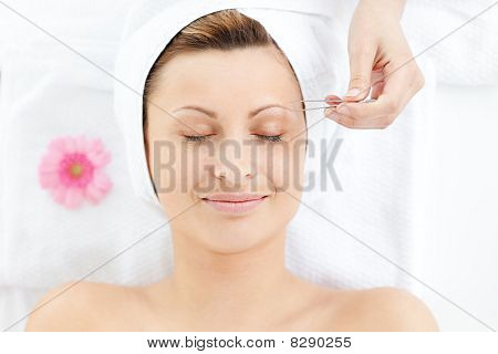 Unstressed Woman Having A Massage