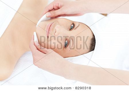 Radiant Woman Having A Massage