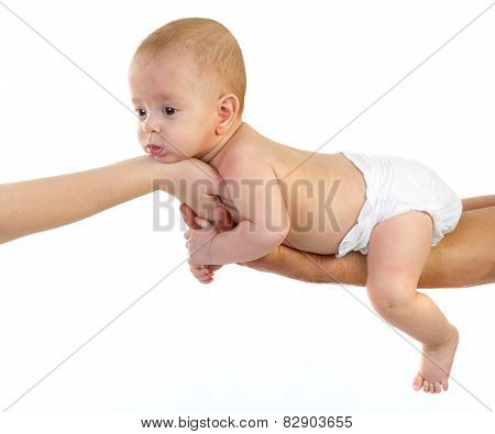 Baby Newborn on Parents Hands