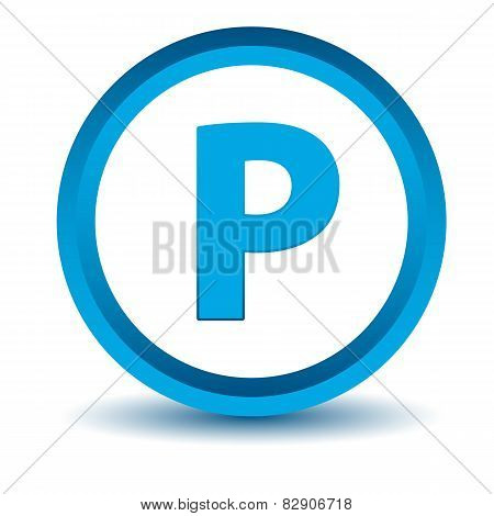 Blue parking icon