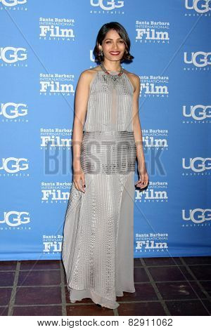 SANTA BARBARA - JAN 27:  Freida Pinto at the Santa Barbara International Film Festival - US Premiere of