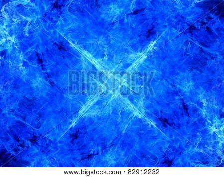 Blue Glowing Mysterious Energy In Space