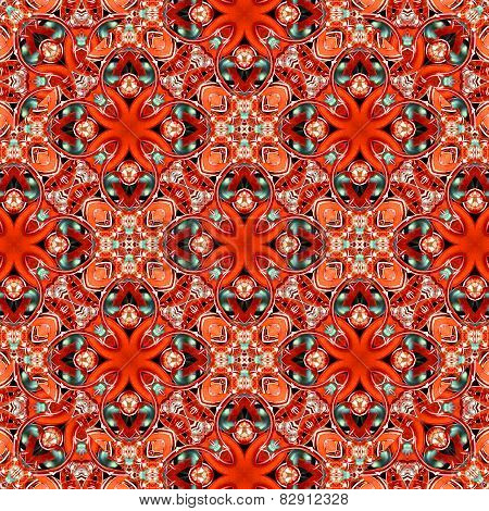Colorful Decorative Floral Motif Pattern