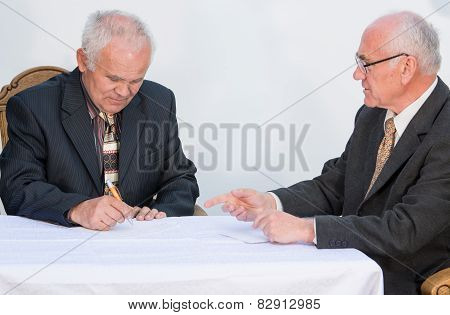 Two Senior Businessmen