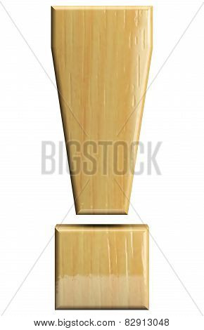 Wooden Exclamation Point