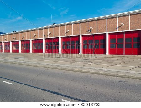 Warehouse With Red Doors