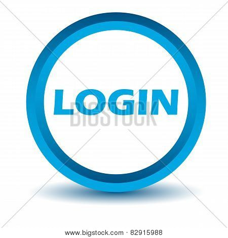 Blue login icon