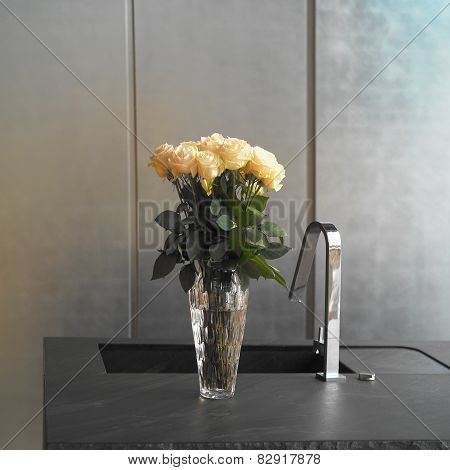 Vase in a Kitchen