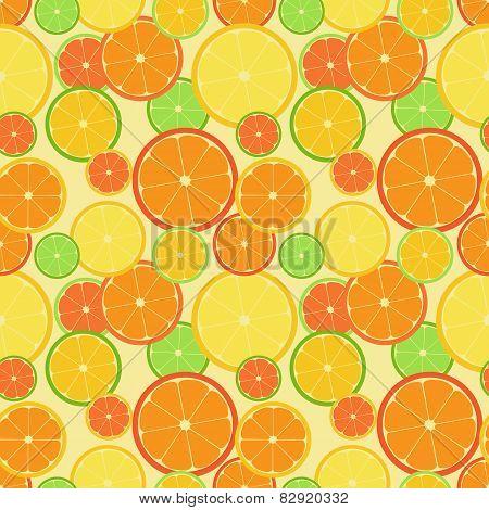 Color citrus seamless pattern