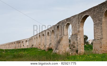 Kamares Aqueduct In Larnaca Cyprus