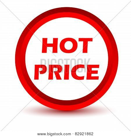 Red hot price icon