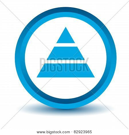 Blue pyramid icon