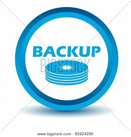 Blue backup icon