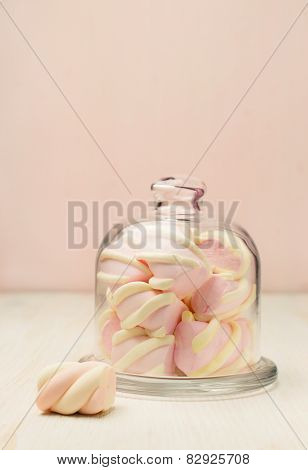 Marshmallow In A Beautiful Glass Dish