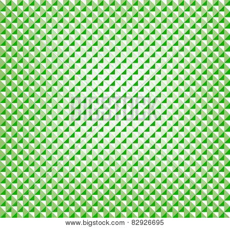 Geometric three-dimensional appearing pattern in gradient greens